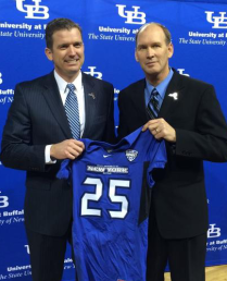 Danny White, left, with Lance Leipold