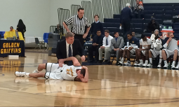 Phil Valenti was in pain after injuring his ankle during Friday's game.